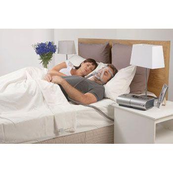 Masque CPAP PPC Facial Resmed Quattro FX apnée du sommeil couple lit